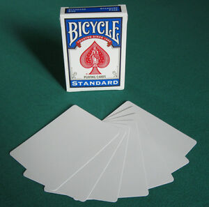 2-DECKS-Bicycle-DOUBLE-BLANK-gaff-magic-playing-cards
