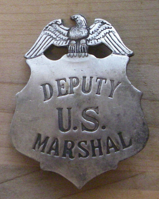 DEPUTY US MARSHAL  BADGE BW - 28   WESTERN SHERIFF POLICE