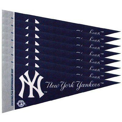 NEW YORK YANKEES 8 PIECE FELT MINI PENNANTS SET PACK MLB BASEBALL