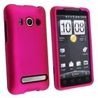 eForCity FOR HTC EVO 4G PINK RUBBER COATED HARD PHONE CASE COVER