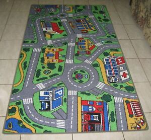 new city road car track kids play mat rug 100x200cm
