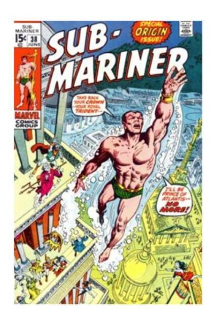 Sub-Mariner #38 (Jun 1971, Marvel) Special Origin Issue