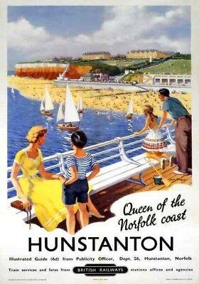 Hunstanton Norfolk Coast British Railways Travel Poster