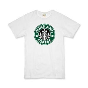 Starbucks-Guns-and-Coffee-T-Shirt-Boy-Genius-Exclusive-Item-Gildan-Cotton-Tee
