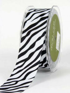 38mm-Zebra-Animal-Print-Grosgrain-Ribbon-1m