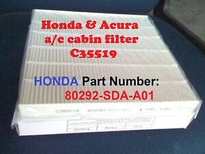 Image Is Loading For HONDA ACCORD CABIN AIR FILTER Acura Civic