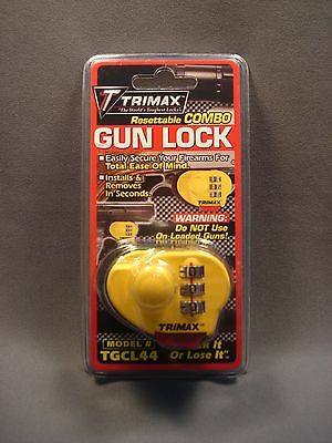 Trimax Gun Trigger Lock Resettable Combination Easy New TGCL44