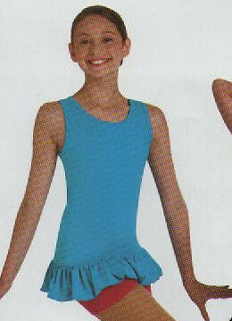 NWT Ruffled Dance top mini dress Jazz Turquoise Ch M//L