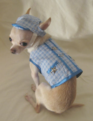 Dog harness/Leash/Blue Little Star Harness Set/Dog Clothes/Chihuahua/s,m,l