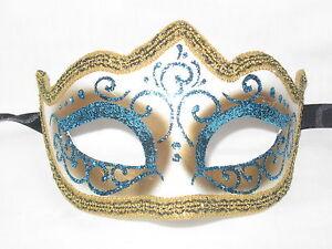 light blue glitter venetian masquerade mask mardi gras wedding