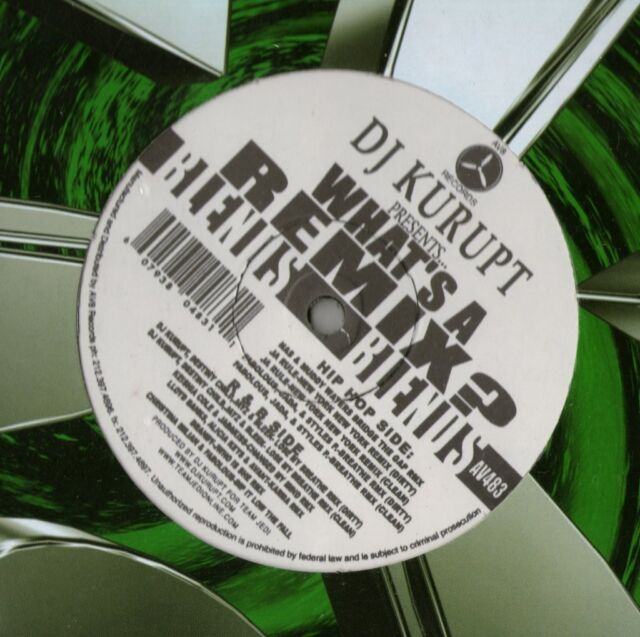"DJ KURUPT / WHAT'S A REMIX 12"" US AV8 GREEN BLEND HIP HOP/R&B VINYL SEALED AV483"