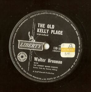 Walter-Brennan-034-The-Old-Kelly-Place-034-Rare-Liberty-45-Single-Vinyl