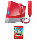 Nintendo Wii New Super Mario Bros. Pack 512 MB Red Console
