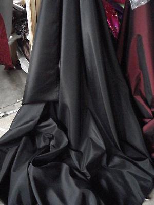 """1M  BLACK DRESS LINNING TAFFETA  FABRIC 58"""" WIDE new"""