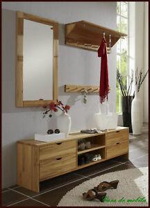 wandgarderobe garderobe garderoben set flur m bel buche kernbuche massiv holz ebay. Black Bedroom Furniture Sets. Home Design Ideas