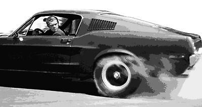 Bullitt Steve McQueen Pop Art Canvas Print 16x30