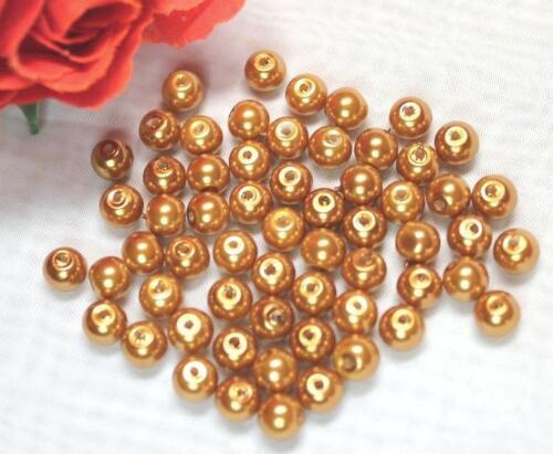 0,03 €//pcs 120 Perles De Verre Cire Perles 6 mm 10 Couleurs Bricolage Bijoux deco 2 nouveau
