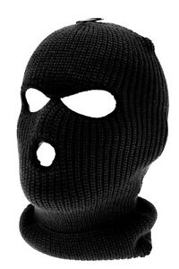 New-Black-SAS-Style-3-Hole-Balaclava-Army-Mask-Paintball-Fishing-Snowboard-Ski