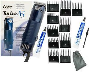 New-Oster-A5-1-Speed-Turbo-Animal-dog-horse-Clipper-Blade-10-pc-Comb-Guides-L-k