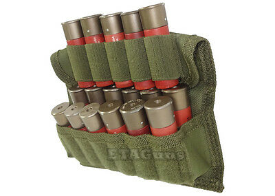 NEW VISM OD Green MOLLE Shotgun Hunting 17 Round Shot Shell Pouch Case Holster