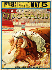 Vintage-Decoration-amp-Design-Movie-POSTER-Quo-Vadis-Bull-Room-art-Decor-916