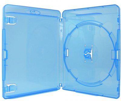 100 Amaray Blu-ray Hüllen 1er Box 11 mm für je 1 BD / CD / DVD blau