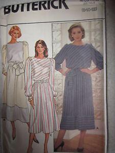 VINTAGE-Butterick-Pattern-6825-Misses-Pullover-Dress