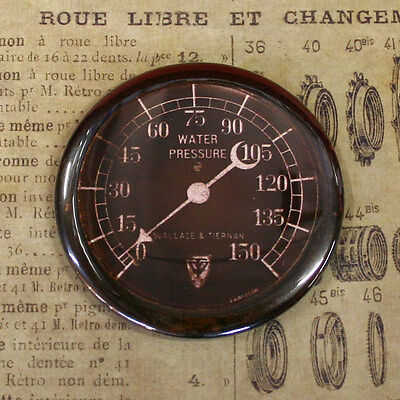 """GAUGE 8 -  Round Fridge Magnet, Steampunk, 2.25"""""""