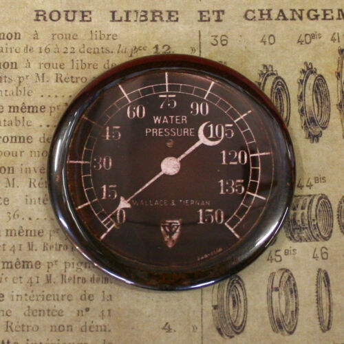 GAUGE 8 -  Round Fridge Magnet, Steampunk, 2.25""