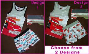 DISNEY-CARS-Lightning-McQueen-2pc-Underwear-Set-UNDIES-TRUNKS-VEST-Sz-2-3-4-amp-5