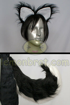 Deluxe Husky or Wolf Tail and Ears Cosplay (Other Colors Available!) Christmas!