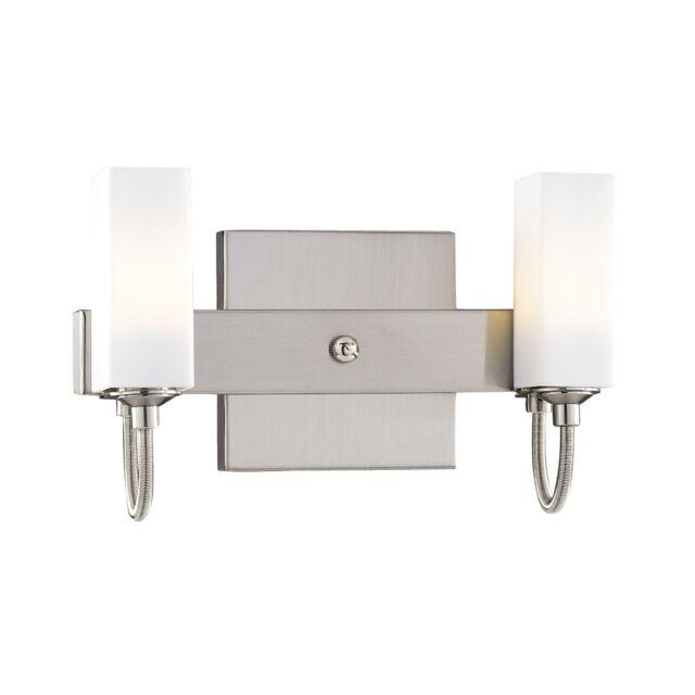 George Kovacs P5022-084 Contemporary Modern Nickel 2 Light Bathroom Vanity Lamp