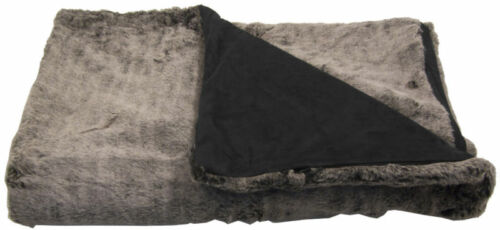Winter Warm Reversible High End Faux Fur Zipper Throw Blanket