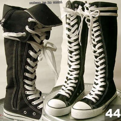 RTBU KNEE HIGH Top PUNK EMO Laceup Canvas Sneaker Boot