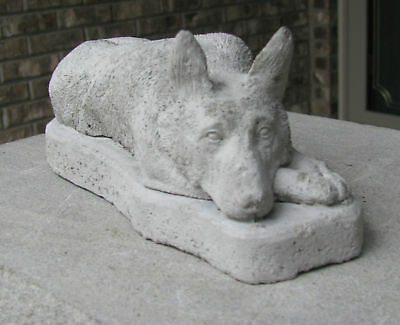 CONCRETE GERMAN SHEPHERD STATUE OR USE AS A MONUMENT