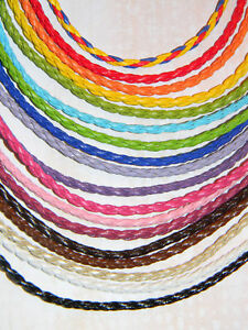 Genuine-Leather-Braided-Necklace-Cords-Choose-from-Multiple-Colors