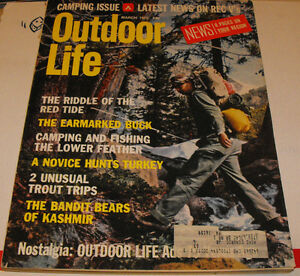 Outdoor life hunting and fishing magazine mar 1973 big for Hunting and fishing magazine