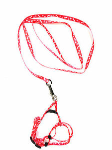 Small-dog-or-Cat-harnesses-Lead-leash-step-in-dog-or-Cat-harness-Pet-Collar-Red