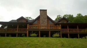 Exceptional-log-home-estate-in-the-mountains-of-North-Central-PA