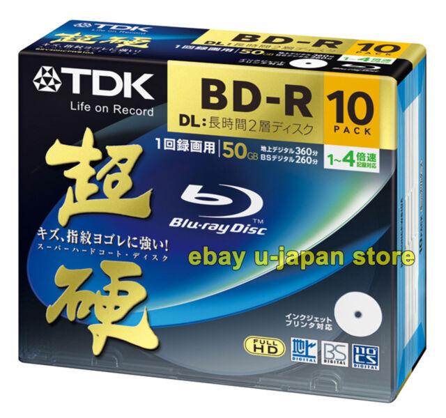 10 Radius Bluray 50GB BD-R DL Printable Dual Layer Blue Ray Super Hard Coat tdk