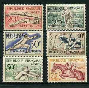 FRANCE-1953-MNH-SPORTS-SET-SCOTT-700-705