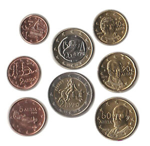 Greece-2010-Set-of-8-Euro-Coins-UNC