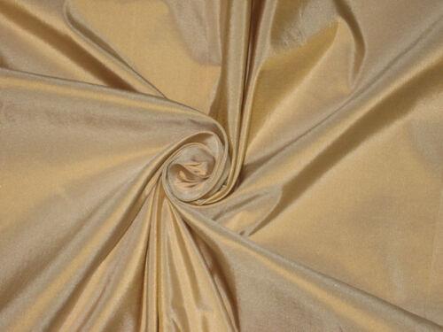 100% Pure SILK TAFFETA FABRIC Antique Gold Ivory Shot