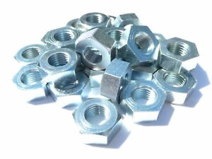 5-16-BSF-Full-Nuts-Pack-of-25-Bright-zinc-plated-BZP-22-tpi