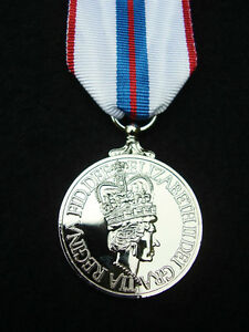 BRITISH-ARMY-GUARDS-RAF-RM-SBS-POLICE-Queen-039-s-Silver-Jubilee-1977-Medal-Ribbon