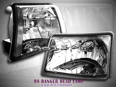 98 99 00 Ford Ranger XLT Crystal Clear Headlights