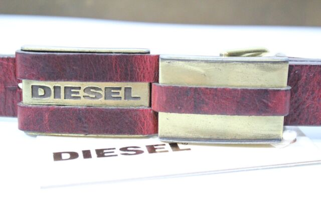 """Diesel Leather Rewind-Belt Belt Size 100 (4o"""") $120 BN Authentic Made inItaly"""
