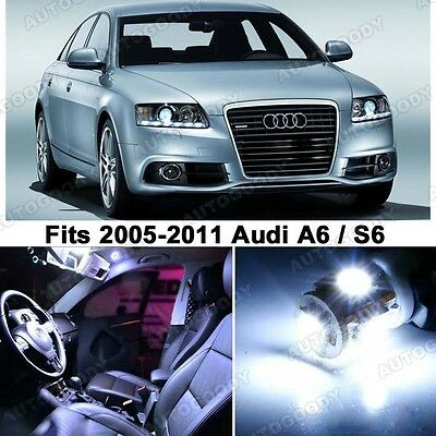 Premium Xenon White LED Lights Interior Package Upgrade for Audi A6