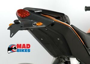 ktm duke 125 200 390 r&g tail tidy licence plate number plate