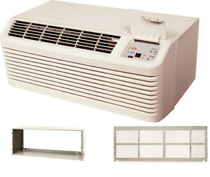Amana-PTH153G35AXXX-14000-BTU-PTAC-Air-Conditioner-Heat-Pump-with-Sleeve-amp-Grill